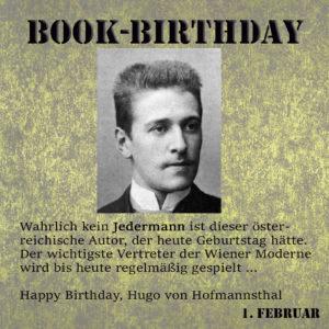 BookBirthday Hugo von Hofmannsthal