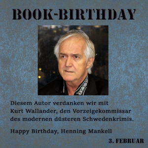 BookBirthday Henning Mankell