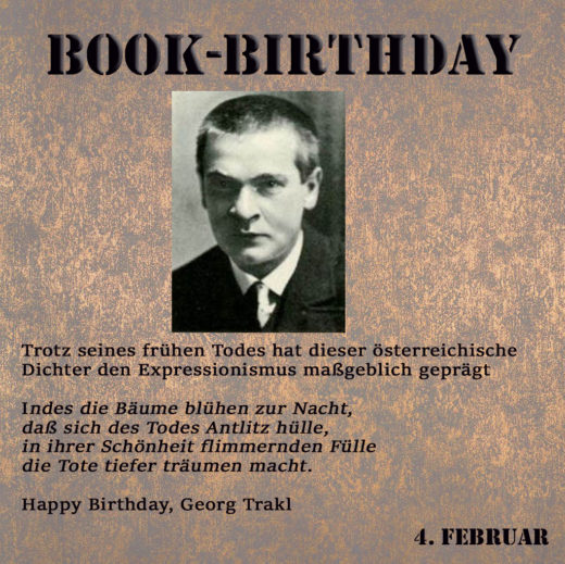 BookBirthday Georg Trackl