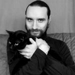 Uhlemann mit Katze