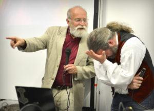 Tommy Krappweis und Prof. Rudolf Simek lieferten sich auf der RPC 2017 ein amüsantes Wordgefecht